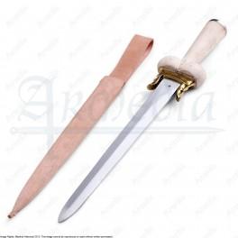 Dague à couillette de luxe manche en bois